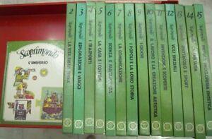 SCOPRIMONDO Enciclopedia bambini ragazzi 15 Volumi ed. Essebiemme