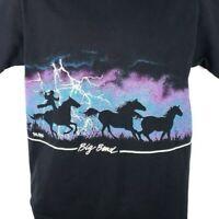Big Bend National Park T Shirt Vintage 90s Cowboy Lightning Made In USA Large