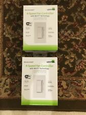 Two (2) Leviton Decora Dw4Sf-1Rw Smart Wi-Fi Fan Speed Controller New in Box