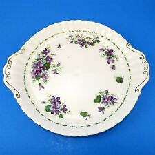 """Royal Albert Flower of the Month Series Violets February Cake Plate 10 1/4"""""""