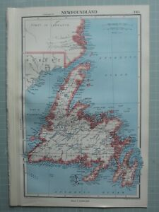 1952 MAP ~ NEWFOUNDLAND GRAND HILLS HERMITAGE FORTUNE BAY AVALON PENINSULA