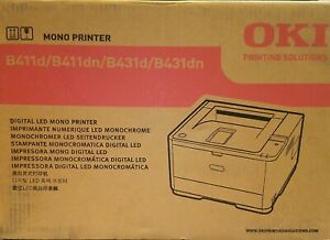 Oki Data B431dn Black Digital Mono Printer (40 ppm) Brand New Sealed