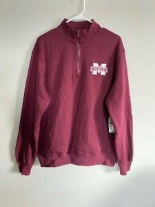 Mississippi State sports henley pullover sweatshirt Size Medium