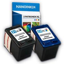 2x Tintenpatronen für HP 21 XL und 22 XL Deskjet  F380  F4180 F2180 bei Nano