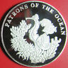 2001 ZAMBIA 4000 KWACHA SILVER PROOF SEAHORSE FISH PATRONS OF THE OCEAN RARE!