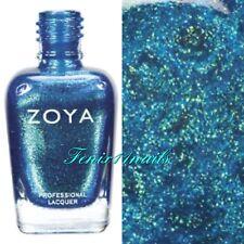 ZOYA #ZP508 CHARLA tropical blue sparkling metallic nail polish lacquer NEW