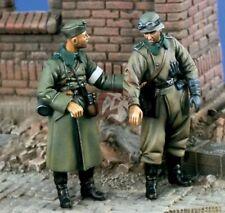 Escala 1/35 Segunda Guerra Mundial soldado alemán herido con el camarada Kit de modelo de resina de la segunda guerra mundial