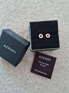 Azendi Rose Gold Earrings