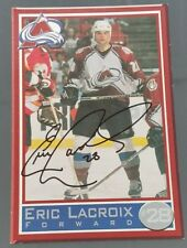 ERIC LACROIX COLORADO AVALANCHE SIGNED NHL 4 x 6 POST CARD PHOTO NO COA