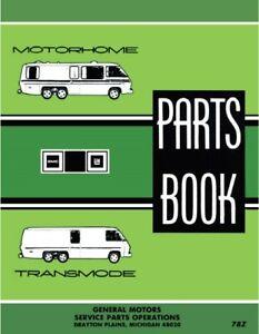 1973 1974 1975 1976 1977 1978 GMC Motorhome Parts Book Manual Catalog