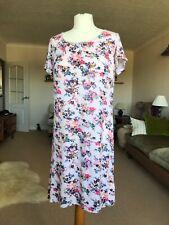 M&S Ladies Pretty Pink Floral Nightdress Size 12