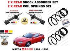FOR MAZDA MX3 1.6 1.8 1991-1997 2X REAR SHOCK ABSORBER SET + 2X COIL SPRINGS KIT