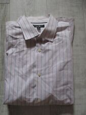 BANANA REPUBLIC Men's Shirt Size XL LONG Sleeved WHITE PINK Stripes NEW