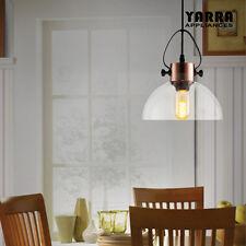 1LT Glass Pendant Light Ceiling Lighting Living Room Kitchen Island Lamp- Bronze