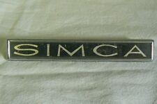 SIMCA sigle embleme logo insigne monogramme de carrosserie aluminium 1