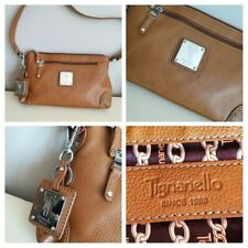 TIGNANELLO Fabulous Tan LEATHER Shoulder HAND BAG Medium UNUSED & LIKENEW!!