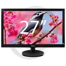 PHILIPS HD 27 pouces moniteur à écran plat professionnel LCD LED Écran CCTV PC UK