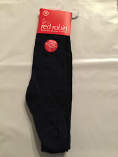 BNWT Red Robin Brand Girls Age 11-14 Years Navy Blue Thick School Style Tights