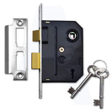 "Union 2295 2 Lever Sashlock 75mm/3"" Mortice Door Lock Chrome Plated Keyed Alike"