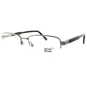 Montblanc MB0635 014 Dark Havana / Silver Rectangular Optical Frames Eyeglasses