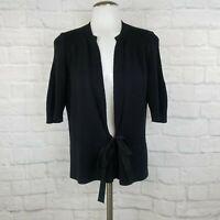 Elie Tahari Women's Medium Cardigan Sweater Black