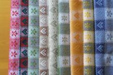 tessuto TIROLESE a metro x tovaglie copritavolo 100% cotone 250 gr/mq, 8 colori