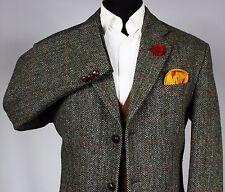 Harris Tweed Blazer Jacket Windowpane Wedding Country 46R WONDERFUL GARMENT V64