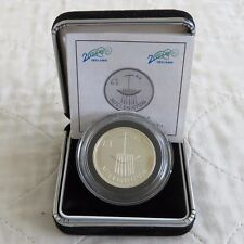 IRELAND 2000 MILLENNIUM PIEDFORT ONE POUND SILVER PROOF - boxed/coa