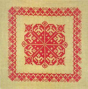 NEW! Lindhorst Needlepoint Stitchery Kit Pillow Canvas Cross Stitch German Craft