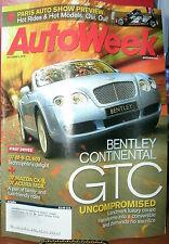 AUTOWEEK OCT 2,2006 BENTLEY;MAZDA CX-9;ACURA MDX;PARIS