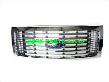 2009-2014 Ford F-150 Billet Chrome Radiator Grille Grill 6 Bar Insert OEM NEW