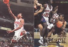 ALLEN IVERSON - 1997 - 1998 (2 card lot) FLEER