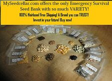 NON-HYBRID, NON-GMO, HEIRLOOM SEEDS! BEST ON EBAY! EMERGENCY SURVIVAL SEED VAULT