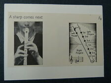 handmade music greetings card with  RECORDER  -A-