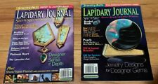 LAPIDARY JOURNAL Jewelry Arts Magazines Lot of 2 ~ Gems ~ Beads ~ Jewelry ~2002
