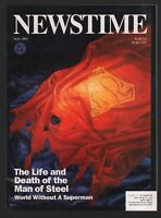Newstime Magazine - May 1993 - The Life and Death of the Man of Steel - DC Comic