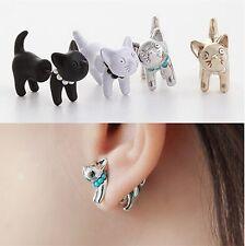Cat Od Dog Earring Puppy IN Ear Studs Earrings Fake Plug Tunnel Colors
