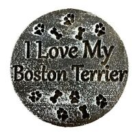 "Boston Terrier dog mold plaster concrete resin casting mould 7.75"" x 3/4"""