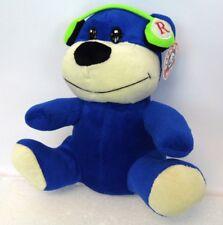 "Rare 10"" Peek A Boo Toys Royal Blue Headphone Teddy Bear Stuffed Animal Plush"
