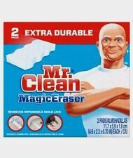 2 Pads! New Mr. Clean MAGIC ERASER Extra Power Cleaning Sponges Kitchen Bathroom