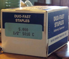 "Duo-Fast Staples 1/2"" 5016 C 5000 Ct. New In Box"