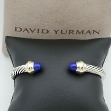 David Yurman Cable Classics Bracelet with Lapis Lazuli & 14k Gold 5mm Medium