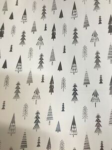 4m 8m 12m 16m SILVER TRIANGLE TREE WRAPPING PAPER BIRTHDAY CHRISTMAS PRESENTS