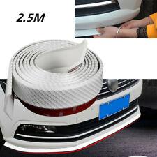 Carbon Fiber Style Car SUV Front Lip Bumper Waterproof Rubber Protect Strip 2.5M
