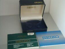 Seiko watch box & paperwork set. 7L22 Kinetic chronograph. Rare set. Arctura