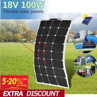 100W 18V Mono Flexible Folding Solar Panel Battery Charger Camping Caravan Boat