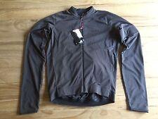 NEW Rapha Core Long Sleeve Jersey Mens Medium Gray Full Zip Aero RCC Pro