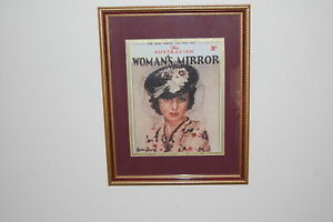 """1939 """"The Australian Woman's Mirror"""" Magazine front cover print with June Lang."""