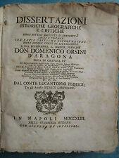 FLORIDI : DISSERTAZIONI ISTORICHE GEOGRAFICHE (Ararat, astrologie, divination..)