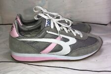 BOBS from Skechers Women's Sunset Retro  Sneaker Shoes Gray Pink 8